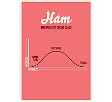 Ham, thickness by social class Photographic Print