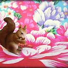 Squirrel. Flower. by Shara