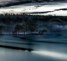 Winter lake by Erik Brede