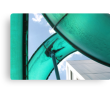looking up at a water  slide Canvas Print