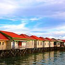 Houses on Derawan Island by Charuhas  Images