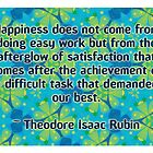 Theodore Isaac Rubin Quote by Dooda Creations