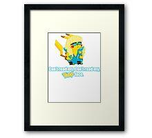 Pokeface Framed Print