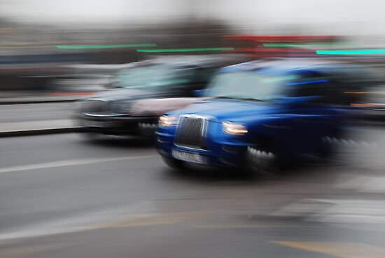 Blue Taxi ( Blurred Series) by Sherion