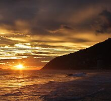 Sunset at Ipanema Beach by Edgardo Medina