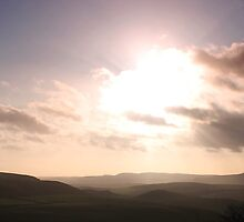 Sunset panorama South East from Mam Tor by Mark Smitham