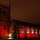 St Edmunds Church in Red by Tony Reed