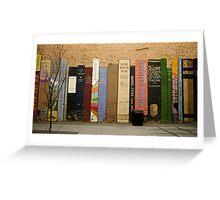 Urban Bookshelf Greeting Card