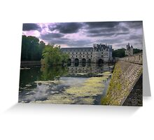 Reflecting On Chenonceau ( 11 ) Greeting Card