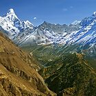 Everest and Gokyo valleys by Kevin McGennan