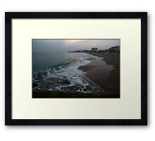 Comes the Wave Framed Print