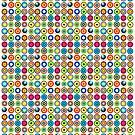 Poke-A-Dots - White [iPhone case] by Damienne Bingham