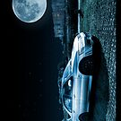 Evo 7 and Castle by Moonlight by Steve Purnell