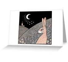 Star Gazing Hare Greeting Card