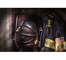 Fireman - Worn and used Photographic Print