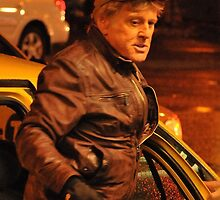 Robert Redford Filming Night Scenes by Stung  Photography
