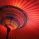 Red japanese umbrella by Delphimages