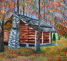 Cabin in the woods  by maggie326