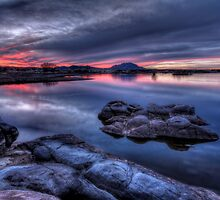Cold Water Sunset by Bob Larson