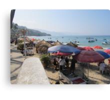 A Shelter at the Beach - Una Protección en la Playa Canvas Print