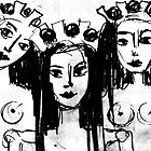 Three Women With Crowns by EBArt