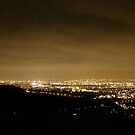 Nightshot of Manchester from Monk&#x27;s Road by Mark Smitham
