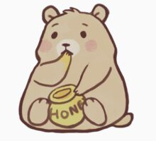 Cute Bear Eating Honey by crownedmoon