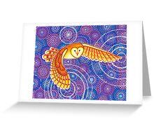 Owl Pulsating Magic Greeting Card