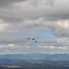 F/A -18 approaching Mt Ainslie 2 by Peter Holland