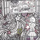 Our Dreams Will Break The Boundaries of Our Fears- A Coloring Page by jayheart