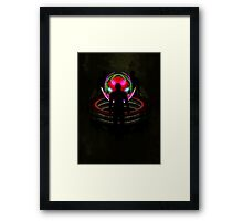 In the sphere - The meeting point Framed Print