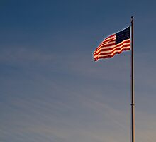 Glowing US Flag by copiouspics