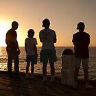 Boys on the Pier by Jeff Symons