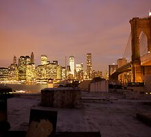 Brooklyn Bridge, Dumbo Rooftop by David Joshua Ford