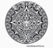 Mayan Calendar Dark by Mandala's World