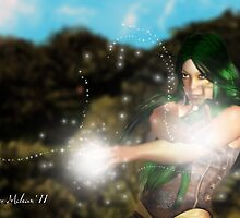 Forest Guardian: Earth Sorceress # 2 by Junior Mclean