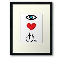 I Heart Cycling Framed Print