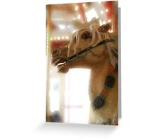 Carousel horse, digital artwork. Greeting Card