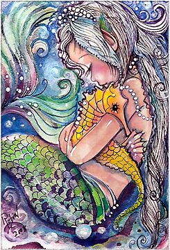SeaHorse Hugs by Robin Pushe&#x27;e