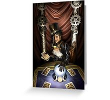 Steampunk High Priestess Greeting Card