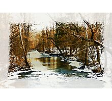 Flowing Winter Creek Photographic Print