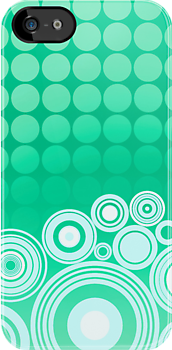Concentrics - Mint [iPhone/iPod case] by Damienne Bingham