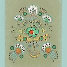 Flower in the Sky Greeting Card by Janet Antepara