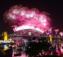 Sydney Fireworks NYE 2012 by David Pincus