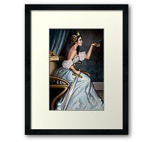 Steampunk Queen of Swords Framed Print