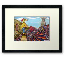 344 - OBSERVED BY A BIRD - DAVE EDWARDS - INK & PENCILS - 2012 Framed Print