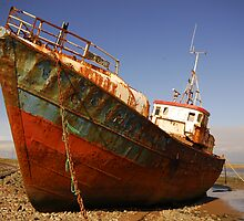 Rusting Hulk at Rampside, North Lancashire.  by Billlee