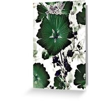 Floral Green Greeting Card