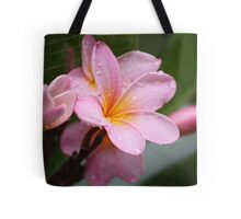 The Rains Are Here: Pink Frangipani Tote Bag