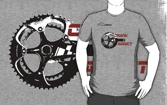 Cycling T Shirt - Crank Addict by ProAmBike
